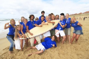 Ziehen gemeinsam an einem Strang: Die Teamer von RUF Jugendreisen